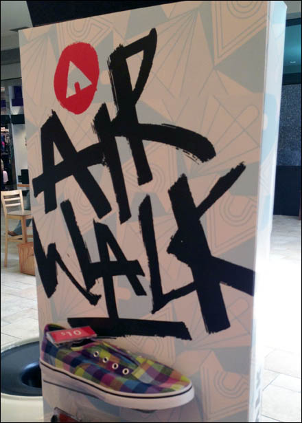 Air Walk in Brush Stroke Style