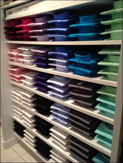 Dress Shirt Color Array 2
