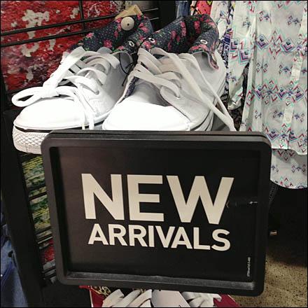 Drop-in New Arrivals Sign Main