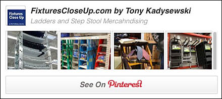 Ladder and Step Stoop Merchandising Pinterest Board