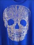Pointalist Skull T-Shirt Closeup Aux