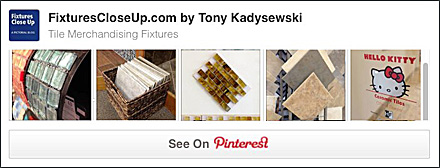 Tile Merchandising Fixture Pinterest Board