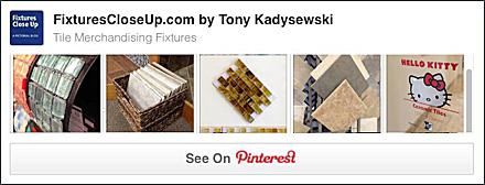 Tile Merchandising Fixture Pinterest Board
