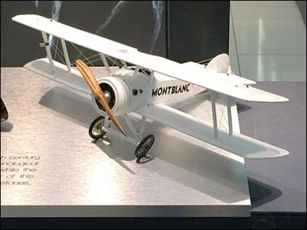 Biplane Celebrates Montblanc Pen 1