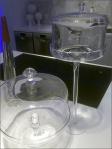 Hi and Low Cake Displayer Bell Jars Closeup