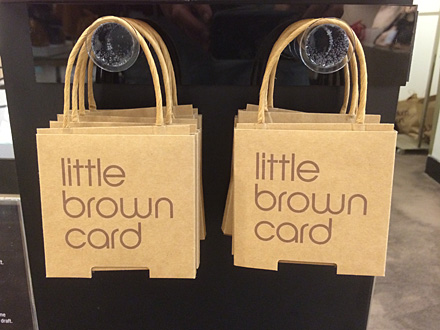 7012d75cf0 Bloomingdales Littlest Brown Bag For Gift Cards – Fixtures Close Up