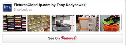 Shoe Ledges Pinterest Board