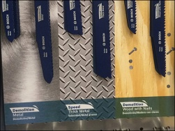 Color-Coded Saw Blade Merchandiser