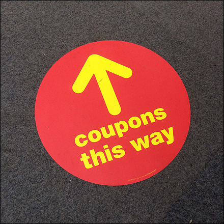This-Way-to-Coupons Floor Graphic