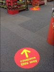 Coupons THis Way Floor Graphic Trail