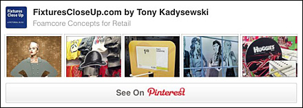 Foamcore as Retail Merchandising Store Fixtire Pinterest Board