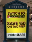 Jackson Hewitt Mall Directory Ad