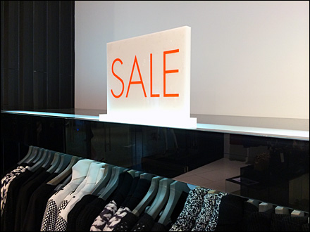 Karen Millen Bottom-Lit Sale Sign