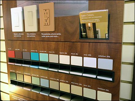 Lutron 174 Color Samples To Go Fixtures Close Up Retail Pop
