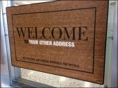 Welcome Mat as Sign Main