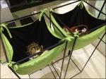 Cloth Pouch Bins in Green Aux