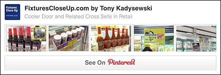 Cooler Door and Related Cross Sells Pinterest Board on Fixtures Close Up