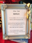 Give Get Repeat Gift Card Frame Aux