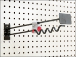 Hybrid Locking Anti-Sweep Hook for Pegboard