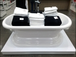 JCP Bath Towels in Tub Aux