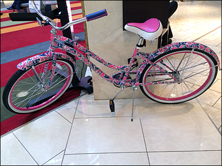 Lilly Pulitzer Bike Cancer Awareness 2