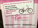 Lilly Pulitzer Bike Cancer Awareness Poster2