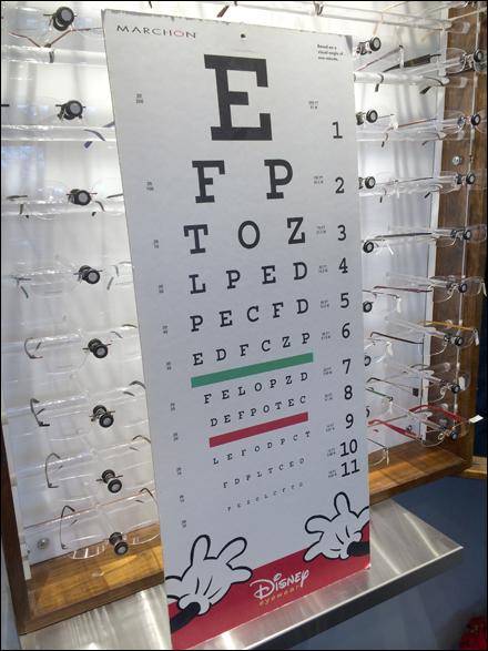 Marchon Disney Eye Test Chart