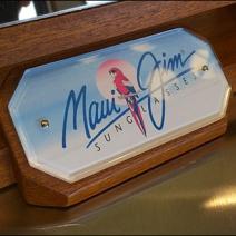 Maui Jim Mirror Logo Closeup