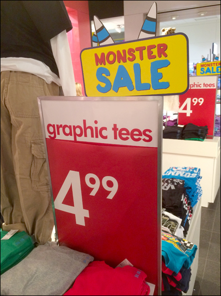 Monster Graphic Tee Sale Main
