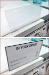 Saddle-Mount Acrylic Sign Holder Aux