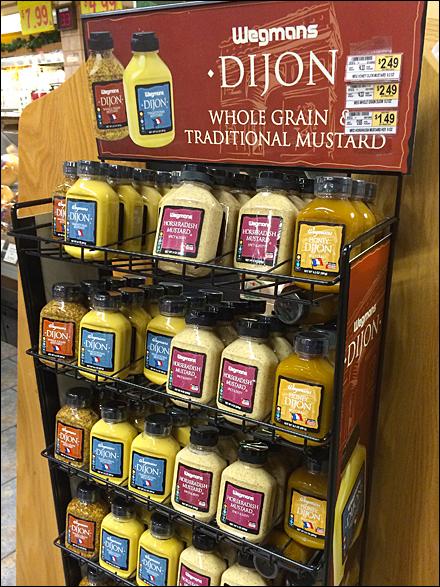 Wegmans Mustard Reverse Gravity Feed Overall