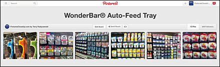WonderBar® Auto-Feed Bar Tray Pinterest Board