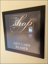 Gift Card REader Amenity at Short Hills Mall