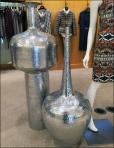 Hammered Metal Vases Main