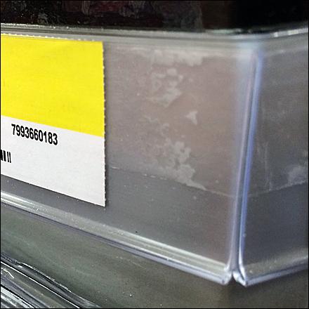 Label Strip Turns a 90 Deg Corner Detail