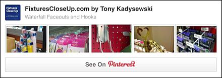 Waterfall Faceout and Hook FixturesCloseUp Pinterest Board