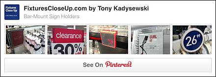 Bar and Saddle-Mount Sign Holder Pinterest Board