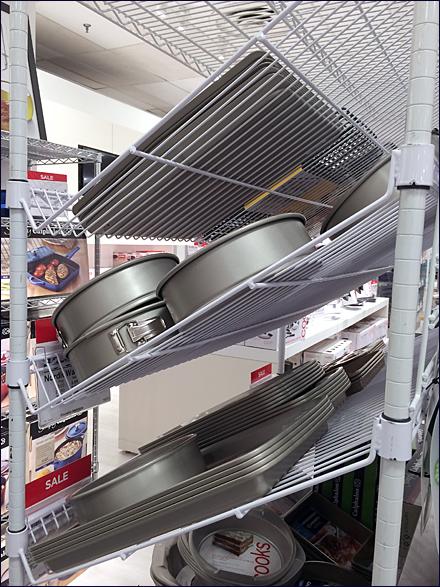 Declined Metro Open Wire Shelf REar View