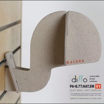 Ditto Sustainable Slatwall Headform 1