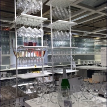 IKEA Ceiling Hung Glassware 1