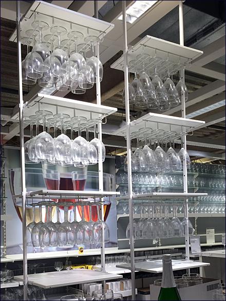 Ikea 174 Ceiling Hung Glassware Fixtures Close Up Retail Pop