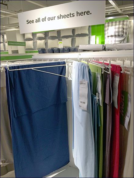 IKEA Linen Display Arms Main