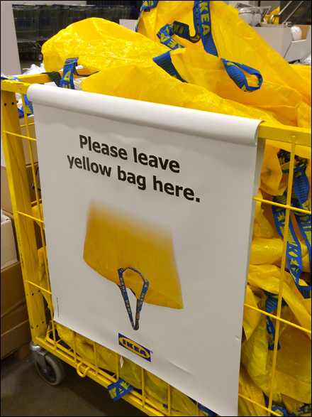 Ikea 174 Mobile Shopping Bag Drop Fixtures Close Up