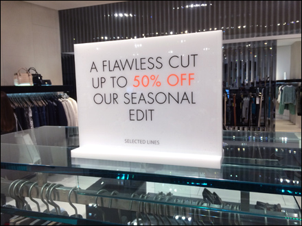 Karen Millen Unlit Sale Sign Main