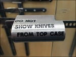 Magnetic Knife Display Lock Aux