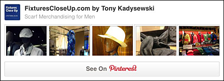 Male Scarf Merchandising Pinterest Board
