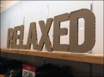 Relaxed Silhouetted Corrugated Sign Overall