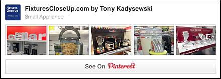 Small Appliance Pinterest Board for FixturesCloseUp