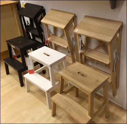 Ikea 174 Step Stool Staging Fixtures Close Up Retail Pop