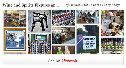 Wine and Spirit Merchandising FixturesCloseUp Pinterest Board